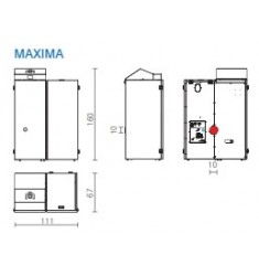 Caldera de Pellet Edilkamin Maxima 14 Kw