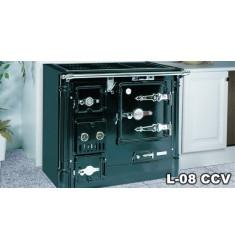 Cocina Calefactora de Leña Hergom L-08 CC-DV
