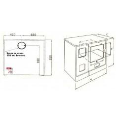 Cocina Calefactora de Leña Hergom L-09 CCE