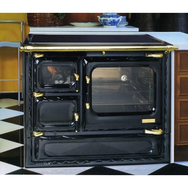 Cocina calefactora de le a hergom deva 100 n for Cocina a lena de fundicion