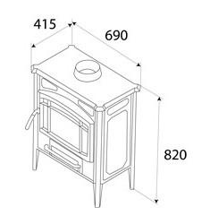 Estufa de Leña Hergom E-10 Plus