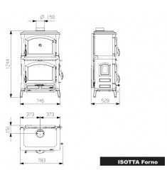 Estufa de Leña Nordica Isotta Forno