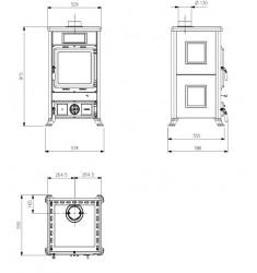 Estufa de Leña Nordica Rossella R1