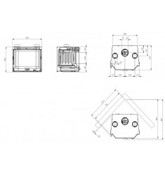 Insertable de Leña Nordica Inserto 70 Prismatico