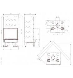 Monobloque de Leña Nordica Monoblocco 750 Ghisa