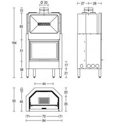 Monobloque de Leña Piazzetta HT 600
