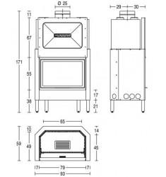 Monobloque de Leña Piazzetta HT 610