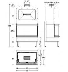 Monobloque de Leña Piazzetta HT 700