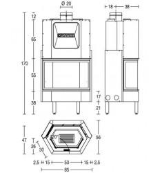 Monobloque de Leña Piazzetta HT 750