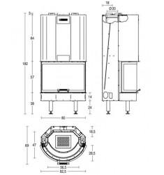 Monobloque de Leña Piazzetta HT 760T