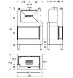 Monobloque de Leña Piazzetta HT 801 D/S