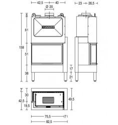Monobloque de Leña Piazzetta HT 810 D/S