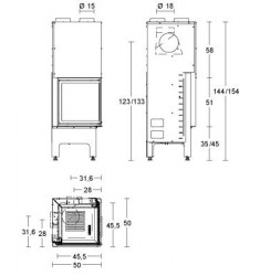 Monobloque de Leña Piazzetta HT 510 SL