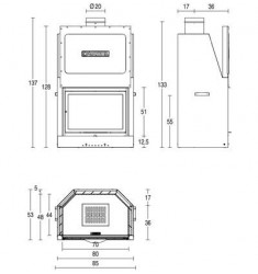 Monobloque de Leña Piazzetta MA 260 SL