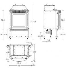 Insertable de Pellet Piazzetta MP 970