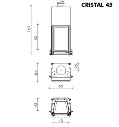Monobloque de Leña Edilkamin Cristal 45